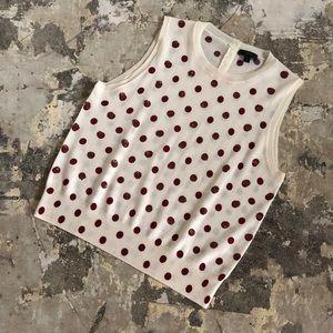 J. Crew Jackie Sequin Polka Dot Sweater Wool Vest